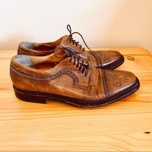 Cole Haan Nike Ain brown leather oxford cap 9.5